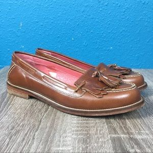 Boden brown leather tassel loafers, 37 / 7
